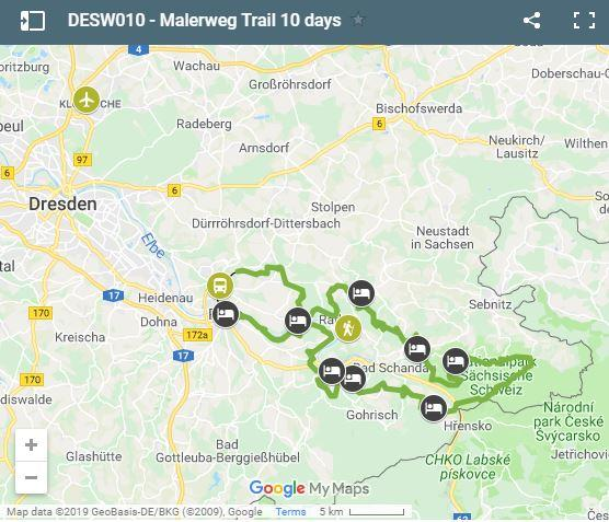 Malerweg Trail 10 days