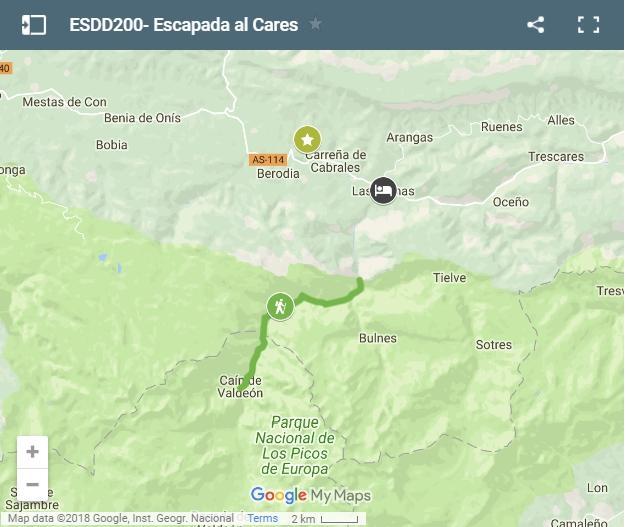 Ruta Del Cares Mapa.Escapada De 3 Dias A Picos De Europa