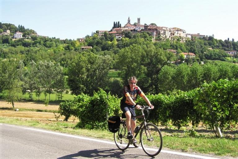 Cyclist in Piedmont